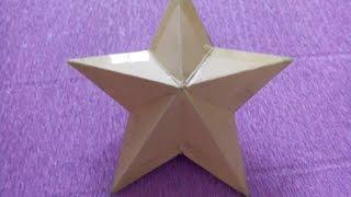 How to make  3D star   Làm ngôi sao 3D