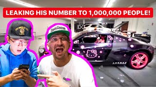 LEAKING ALEX CHOI'S NUMBER AFTER HE PAINTED MY SUPERCAR PINK! *PRANK REVENGE*