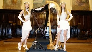 WHITE WEDDING (Billy Idol) - Harp Twins - Camille and Kennerly