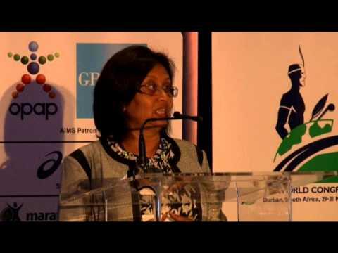 AIMS Congress Durban 2014 Rohini Naidoo, HOD KZN Department of Sports & Recreation