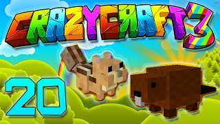 Minecraft Crazy Craft 3.0: BUCK THE BEAVER AND CHIP THE CHIPMUNK  #20 (Modded Roleplay)