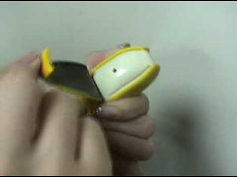 Electronic Banana Peal Mini Banana Key Chain