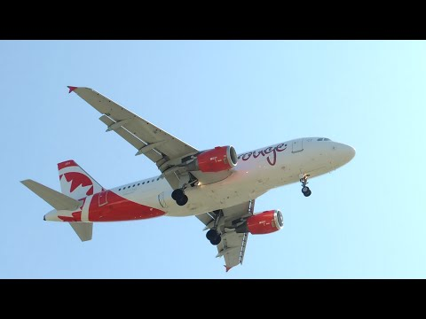 Air Canada Rouge Airbus A319-114 [C-FYNS] landing in LAX
