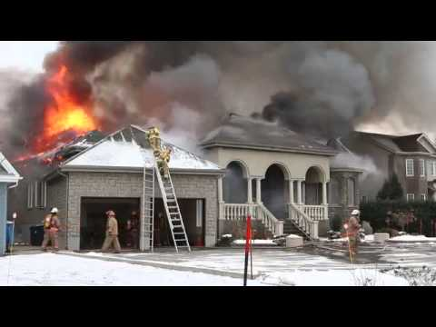 Firefighters Fall Off Ladder At House Fire Youtube