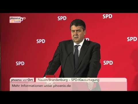 SPD-Klausurtagung: Sigmar Gabriel zu den Ergebnissen am 09.02.2015