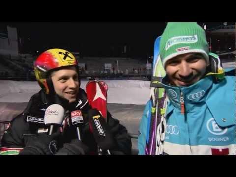 Alpin: Interview mit Felix Neureuther und Marcel Hirscher (12.02.2013)
