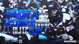 Madden 16: 2/23 BEST POST PATCH UNSTOPPABLE NANO BLITZ! EDGE HEAT & A-GAP NEW Strong Slant 3!