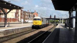 DCR Class 56, 56311 & Grand Central Class 43, 43423, 0Z43 passing Derby (14th April 2014)