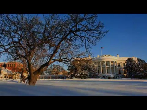Winter Storm Jonas from the South Lawn of the White House