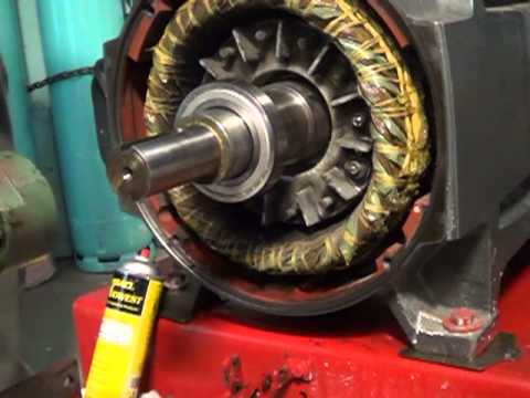 Electric Motor Bearing Install Youtube