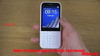 Nokia 225 Flashing And Security code Reset Tutorial Without box