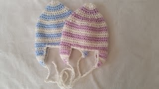 Stocking cap with earflaps - how to crochet a jelly bag cap by BerlinCrochet