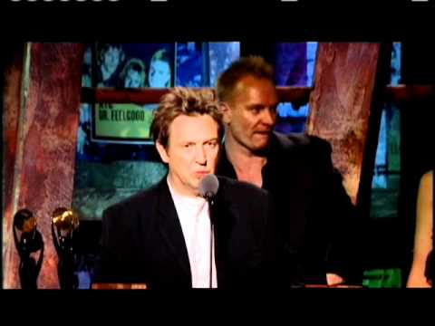 Police accept award Rock and Roll Hall of Fame inductions 2003