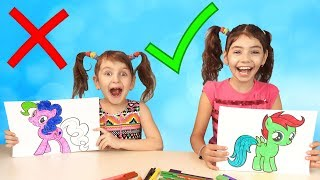 Babies Learn Colors with My Little Ponny. Educational Video Compilation For Children