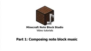 Minecraft Note Block Studio video tutorials