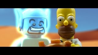 LEGO Homer Simpson And The Genie