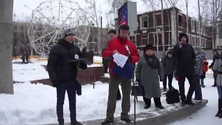 А.Козлов поддерживает предпринимательство. Митинг в Петрозаводске