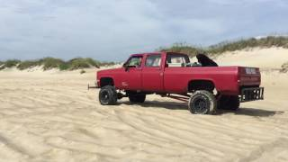 Chevy Cummins Fuller 13 Speed on Beach