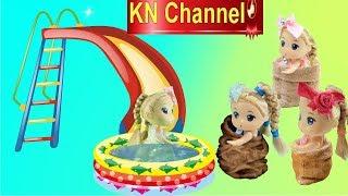 Búp bê KN Channel CHƠI NHẢY BAO BỐ CHƠI CẦU TUỘT KHỔNG LỒ VUI NHỘN