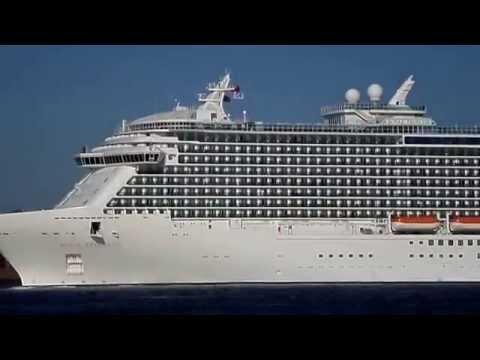 M.S Royal Princess Sets Sail On River Mersey Liverpool UK 13/05/2015