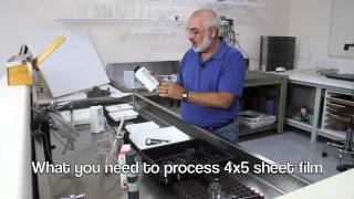 23. What You Need to Process B&W 4x5 Sheet Film
