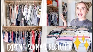 EXTREME KONMARI DECLUTTER WITH ME/ ORGANISATION AND DECLUTTERING KIDS CLOTHES / BEFORE AND AFTER