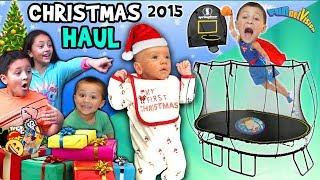 CHRISTMAS HAUL 2015 w  SNOW!!! Surprises!! FUNnel V X Mas Holiday Vlog
