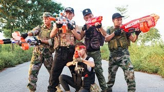 Game Nerf War : SQUAD Winter Warriors Nerf Guns Fight Attack Criminal Group