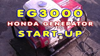 EG3000 Honda Generator Start-Up