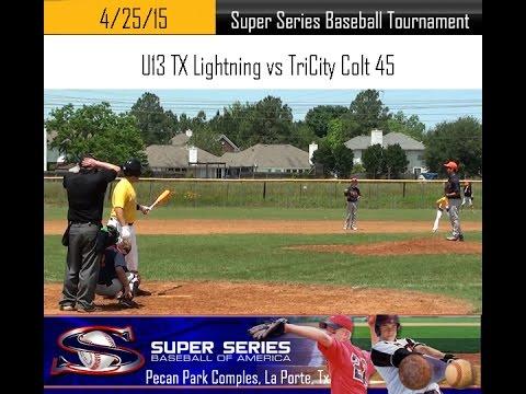 April 25. 2015 - Super Series - TX Lightning vs Tri-City Colt 45 (Full Game 1)