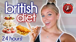 i ate a VERY BRITISH DIET for 24 HOURS!