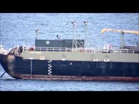petroleum barge Puget Sounder in Possession Sound in Everett, WA 04/12/14