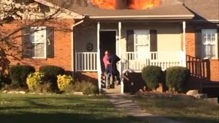 Off-Duty Firefighter Rescues Strangers' Dog From House Fire