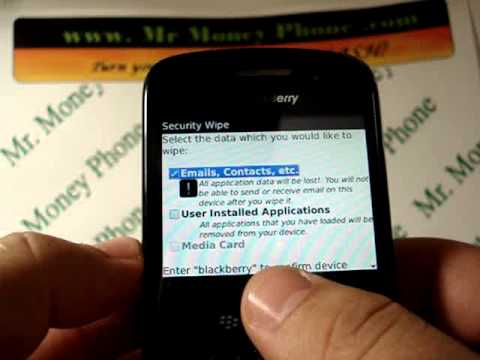 HARD RESET your BLACKBERRY CURVE 8530 (RESTORE to FACTORY condition)