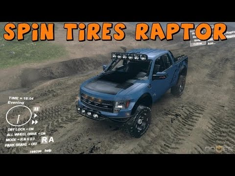 Spin Tires   Ford Raptor [Baja Edition]   Mod Spotlight and Review   Download In Description