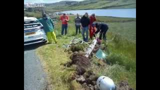 Irish Rally - Car Crash Close Call -  Watch There Boy!