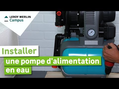 comment installer une pompe d 39 alimentation en eau leroy merlin youtube. Black Bedroom Furniture Sets. Home Design Ideas