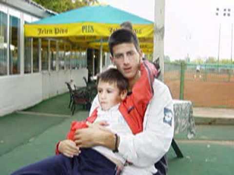 Djordje and Novak Djokovic at age of 13 [EXCLUSIVE] Singing ne spavaj mala moja...