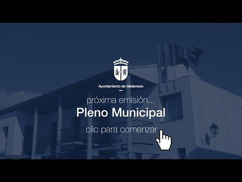 Pleno extraordinario. Constitución del Ayuntamiento de Valdemoro. 15 de junio de 2019. 10.00 h.