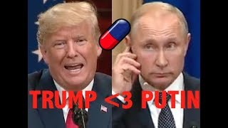 """""""PUTIN IS STRONG & POWERFUL!!!"""" Trump Delivers UNHINGED Defense of Russia IN FRONT OF PUTIN"""