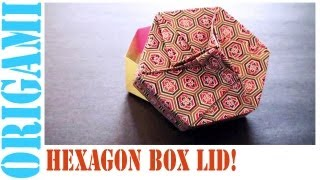 Origami Daily - 451: Hexagon Box Lid Ver 8. (modular 3 Unit) - Tcgames [hd]