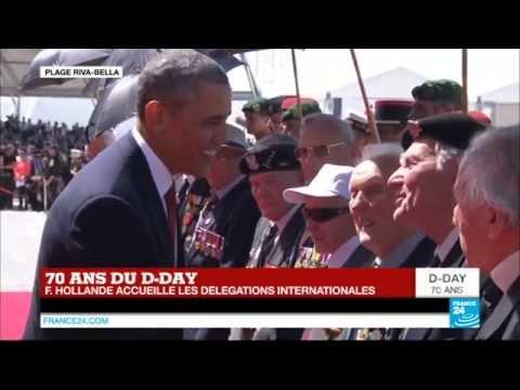 70 ans du D-Day : l'arrivée du président des États-Unis Barack Obama
