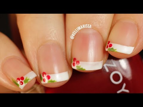 Easy Christmas French Manicure Nail Art Design DIY    KELLI MARISSA