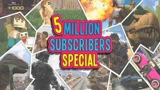 5 Million Subscribers Funny Gaming Montage!  (KYR SP33DY 1,000th Video Special!)