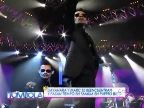 Dayanara Torres entre el publico en el  concierto de Marc Anthony  en Puerto Rico.