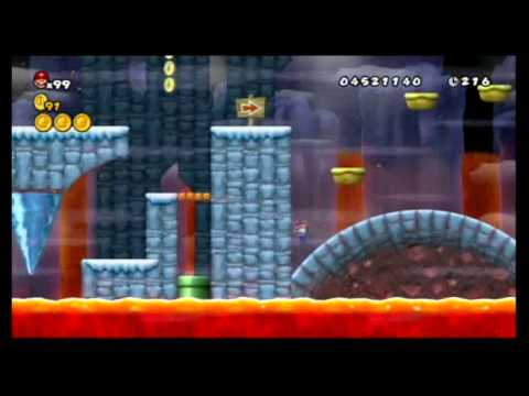 Newer Super Mario Bros. Wii 100%: World 5 - Freezeflame Glacier & Volcano