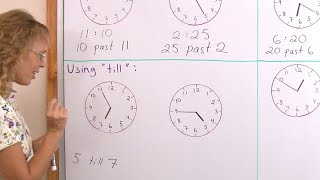 """Using """"past"""" and """"till"""" when telling time (analog clock)"""