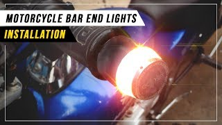 Motorcycle Bar End Lights - Installation Video!!