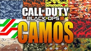 BLACK OPS 3 MULTIPLAYER WEAPON CAMOS LEAKED!