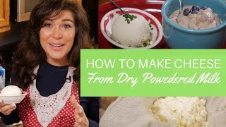 How to Make Simple Cheese from Dry Powdered Milk